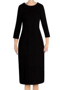 Dzianinowa sukienka Color czarna ze srebrną nitką