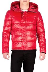 Męska kurtka pikowana czerwona