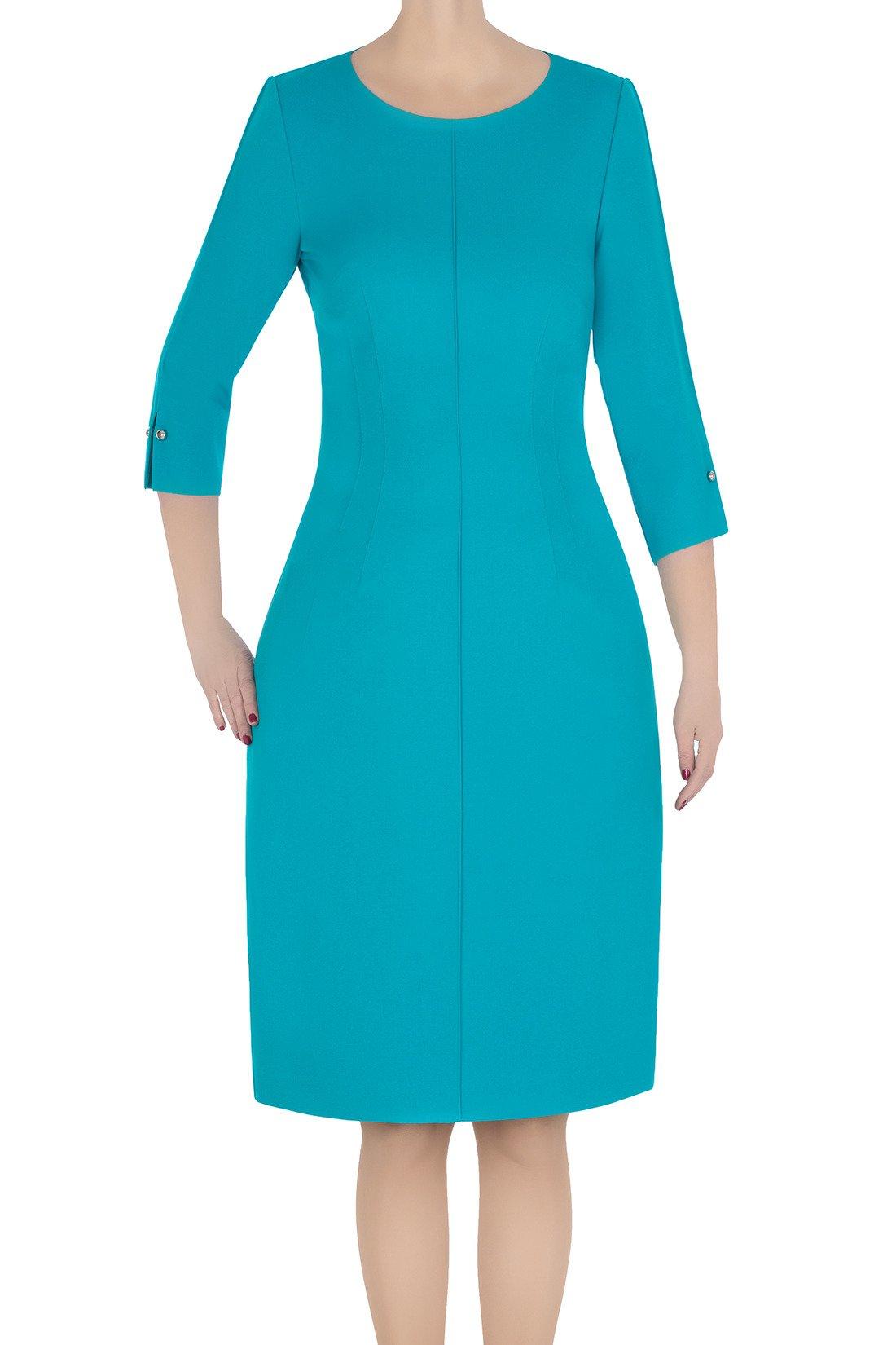 663d768b370da Klasyczna sukienka damska Dagon 2786 morska | sklep internetowy Modon.pl