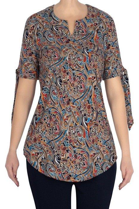 Bluzka Marguerite w kolorowe wzory tureckie