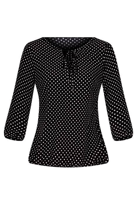 Bluzka W&M czarna w białe kropy