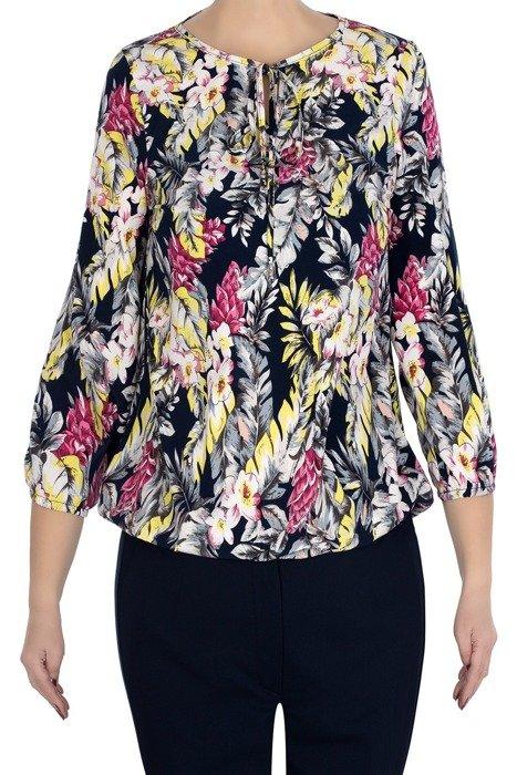 Bluzka W&M w kolorowe kwiaty/liście