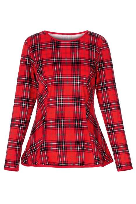 Bluzka damska Madora czerwona w kratę