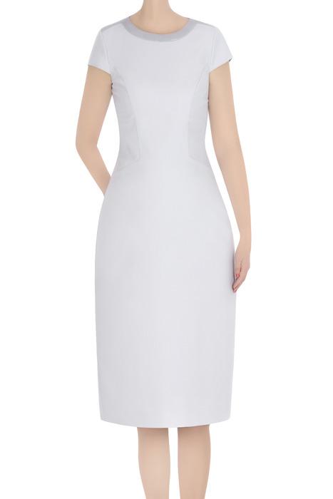 Elegancka sukienka Dagon 2813 szara