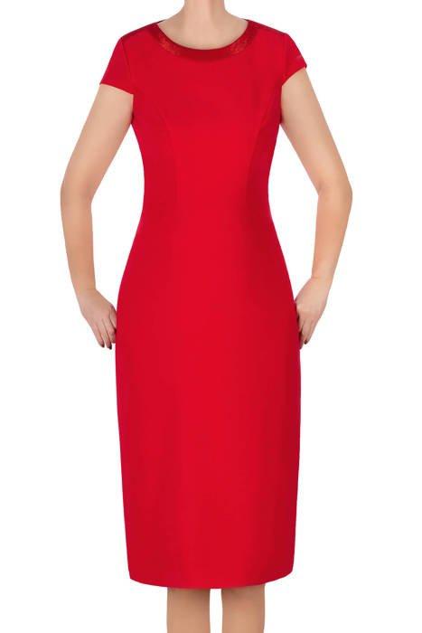 Elegancka sukienka Dagon 3072 czerwona