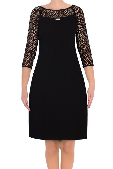 Elegancka sukienka Trynite TK-24 czarna z siateczką