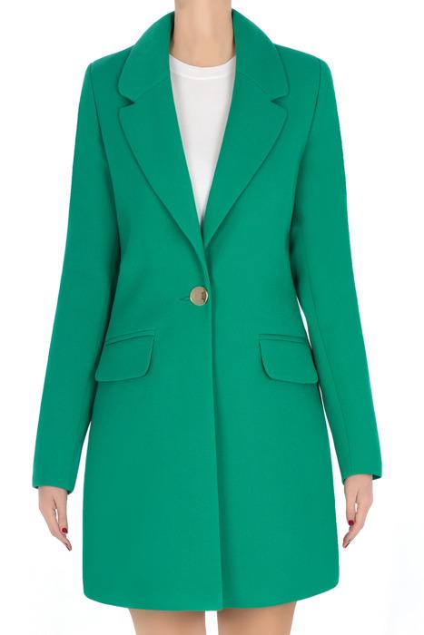 Elegancki płaszcz damski wiosenny zielony 3274
