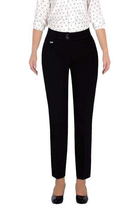 Eleganckie spodnie 7/8 czarne MTM 624