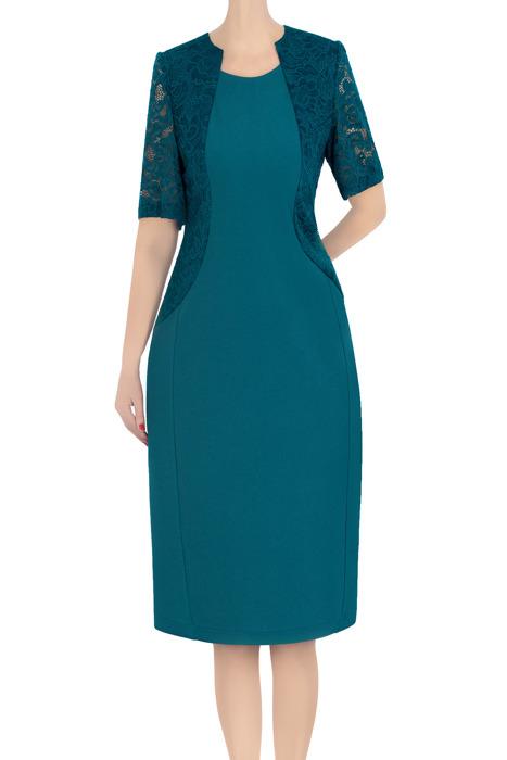 Klasyczna sukienka damska Zosia morska 3379