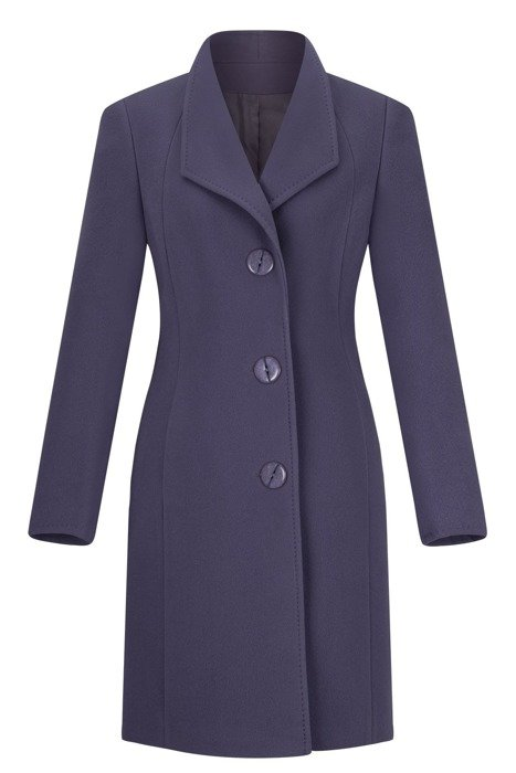 Klasyczny płaszcz zimowy Moris Aga fioletowy wełna