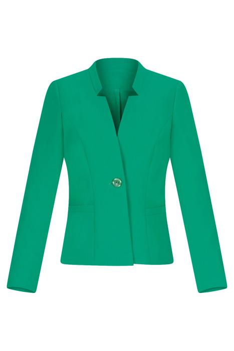 Klasyczny żakiet damski zielony ze stójką 3182