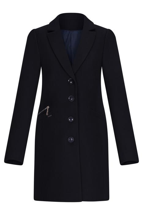 Klasyczny zimowy płaszcz damski Huna Jasmin ciemny granat