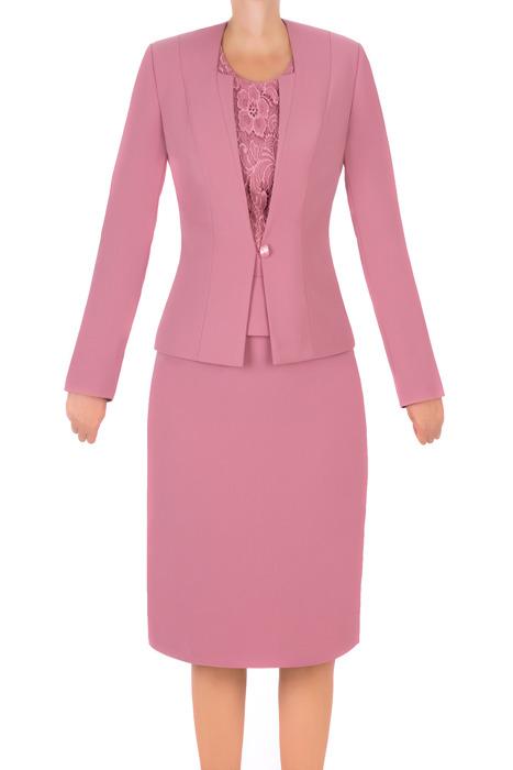 Komplet damski Gracja wrzosowy - żakiet, spódnica i bluzka