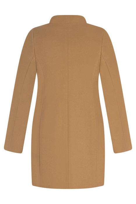 Kurtka zimowa Caro Fashion 2924 camel kołnierzyk wełniana
