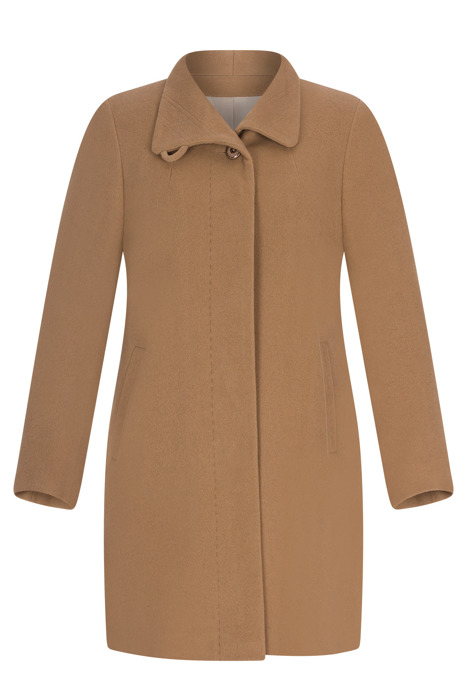 Kurtka zimowa Caro Fashion 2869 camel z kołnierzykiem wełna