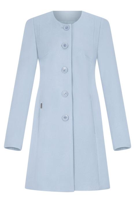 Płaszcz damski Huna Carmen niebieski na guziki