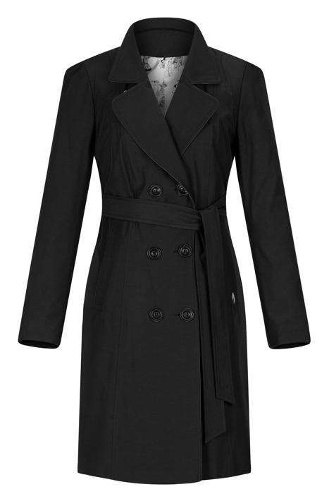 Płaszcz damski prochowiec J&S S-1802 czarny