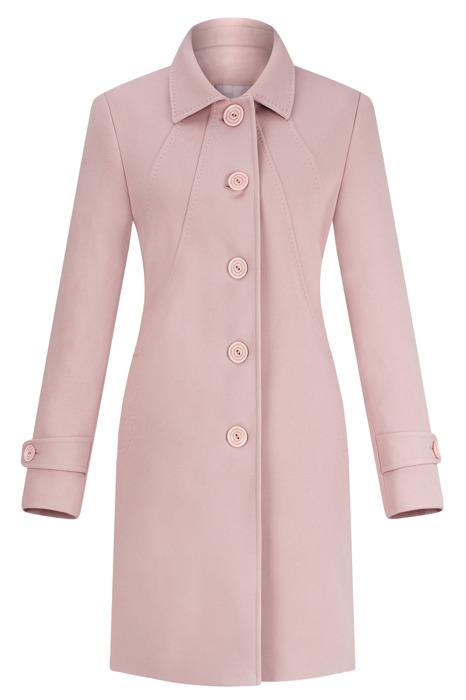 Płaszcz wiosenno-jesienny Moris Olga różowo-beżowy