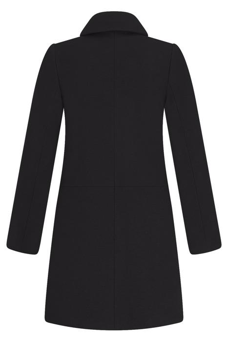 Płaszcz zimowy Caro Fashion 001 stalowy z kołnierzykiem wełna