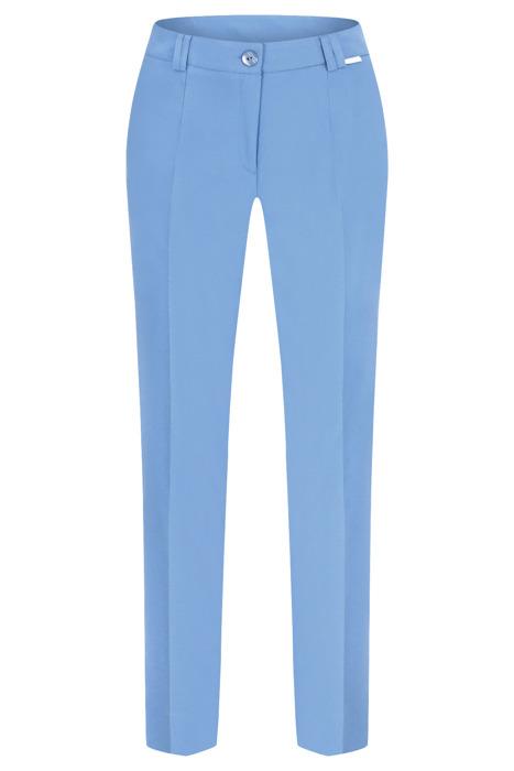 Spodnie damskie Hela jasne niebieskie rozciągliwe wysokie w stanie długość 7/8