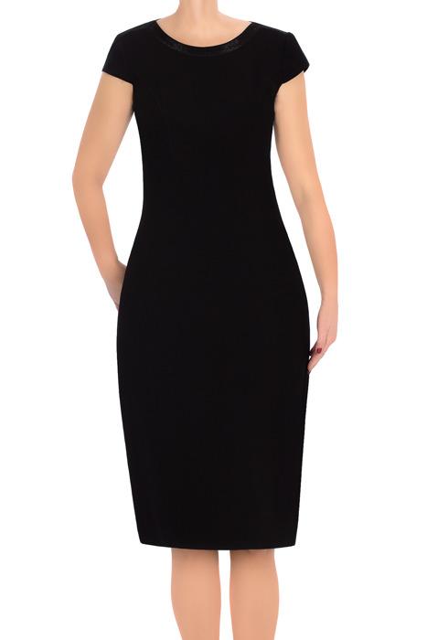 Klasyczna sukienka damska Dagon 2554 z obwódką