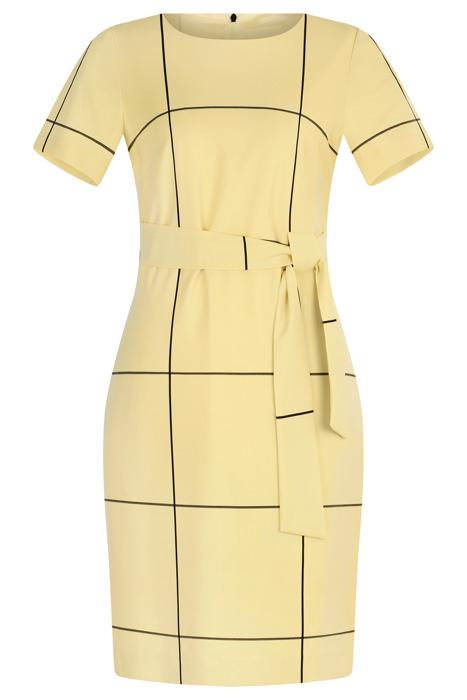 Sukienka Dagon 2620 żółta w kratkę