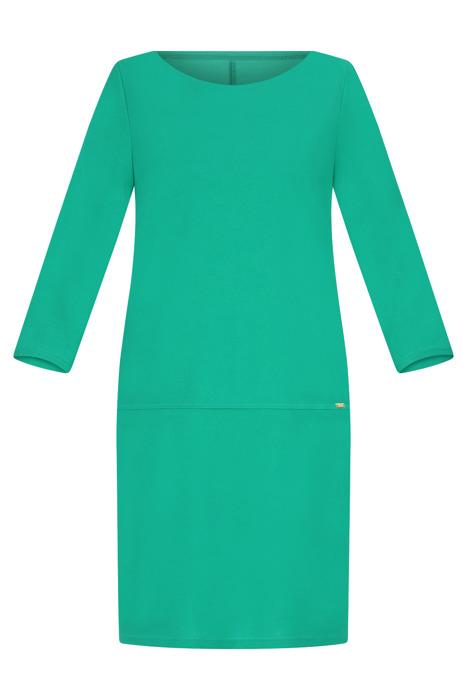 Sukienka Efekt zielona prosty fason