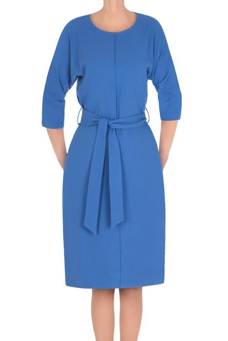 Sukienka Gaja niebieska z paskiem do przewiązania 3185
