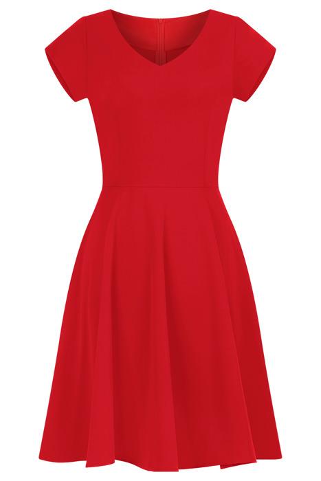 Sukienka Gotta czerwona rozkloszowana bawełniana