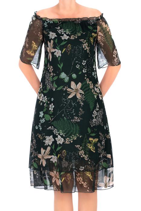 Sukienka Maria Magdalena Lara ciemnozielona w kwiaty