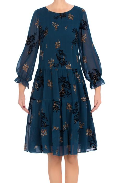 Sukienka Pola morski niebieski w kwiaty