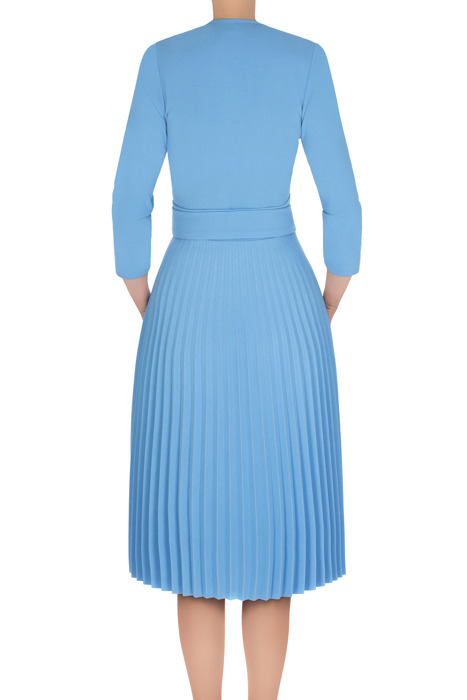 Sukienka Solejka niebieska plisowana 3187