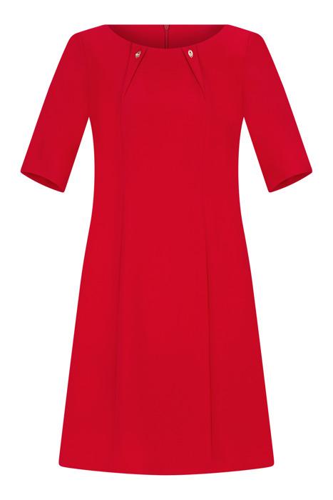 Sukienka Trynite TK-125 czerwona trapezowa