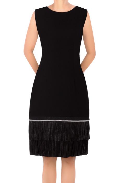 Sukienka retro Dagon 2311 czarna z falbaną