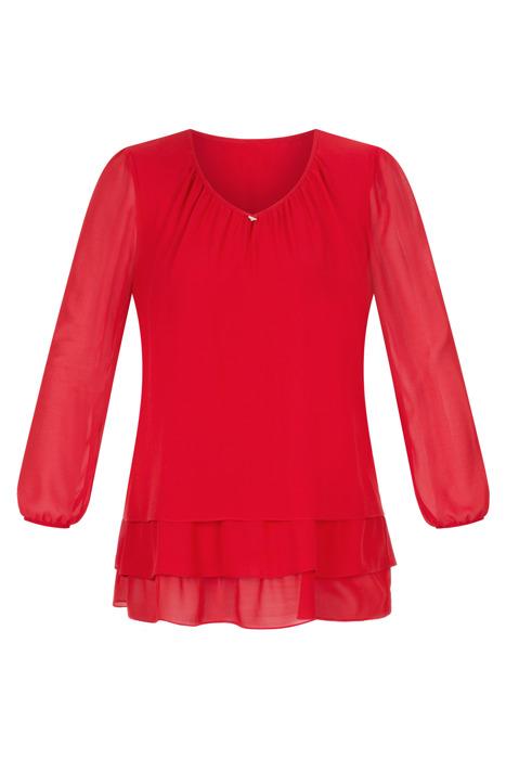 Wizytowa bluzka damska Mercedes czerwona