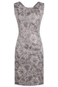 Sukienka Dagon 1858 szaro-beżowa