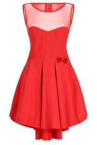 Sukienka Koton czerwona z dłuższym tyłem